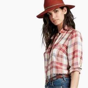 Lucky Brand Bungalow Flannel Button Tail